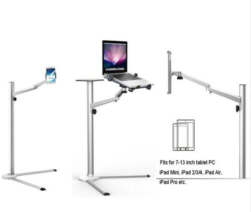 Free Shippping Multifunction 3 in1 Computer Floor Stand for All Laptop/Tablet PC/Smartphone Holder Height/Angle Adjustable UP-8 cheapest price stand for lcd monitor or computer all in one pc