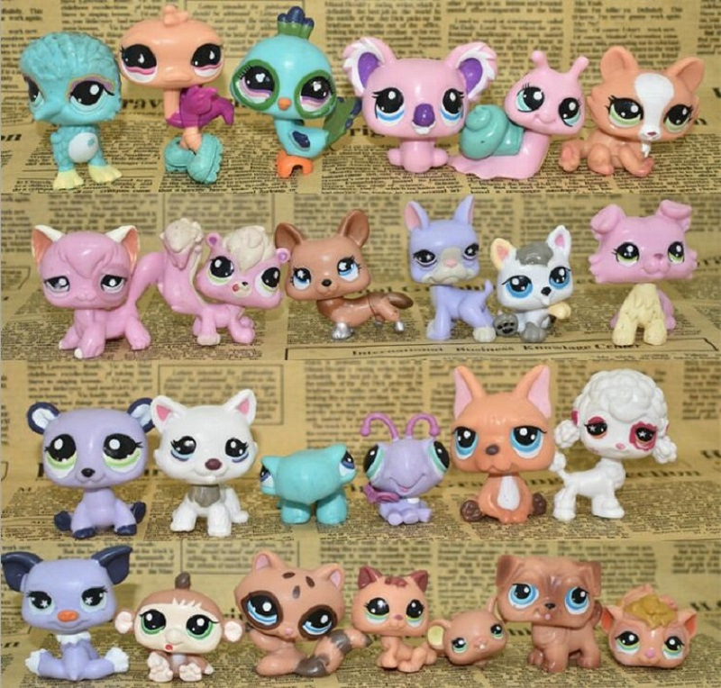 LPS Toy bag 25Pcs Pet Shop Animals Cats Puppy Kids boy and girl Action Figures PVC LPS Toy Birthday/Christmas Gift 4-5cm 20pcs 1lot petshop cartoon pet shop patrulla canina toys action figure toy 778 minifigure christmas gift to kids
