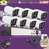 Golden Security 8CH 5 0MP 1080N HDMI DVR 1440P HD Outdoor Surveillance Security Camera System 8