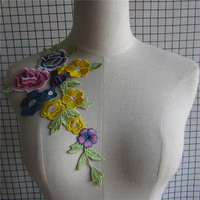 New Arrival Embroidered Floral Lace Neckline Neck Collar Trim Clothes Sewing Applique Embroidery edge 1pcs sell YL493