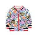 New Baby Coats Fashion Infant Cotton Coat Print Boys Girls Jackets Spring Autumn V Neck Cardigan Coat 2017 Comfort Baby Clothing