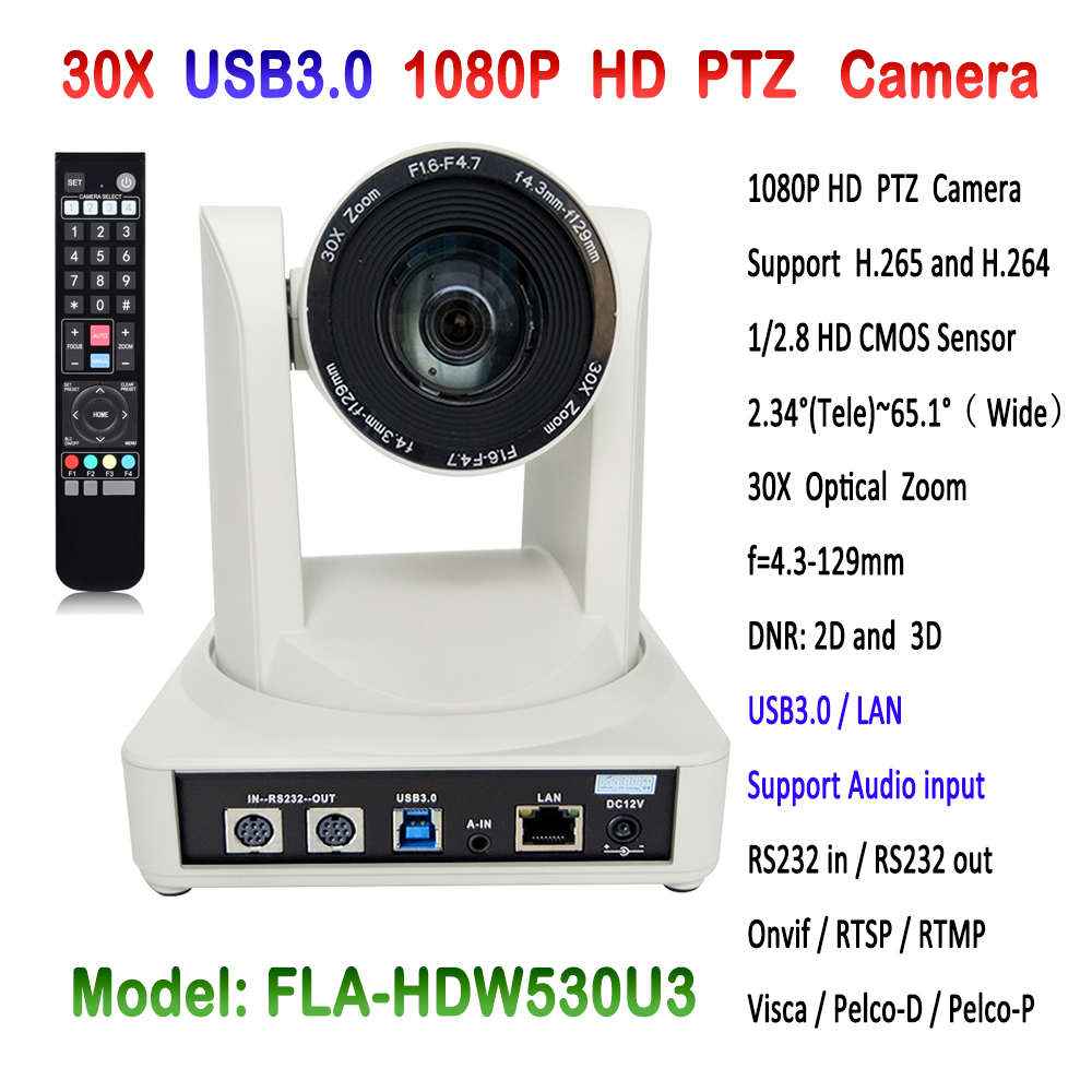 1080P 30x Optical Zoom Video Conference PTZ IP Camera USB3.0 HD Network Webcam