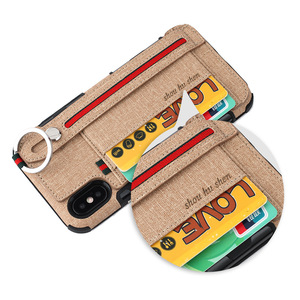 Image 4 - כבד החובה הגנת טלפון מקרה עבור iphone xs max xr 8 7 6 5 6S בתוספת אנטי שריטה ארנק caseCard כיס אצבע טבעת כיסוי