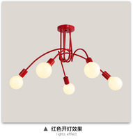 Modern Kids Pendant Lights For Bedroom Living Room Indoor Home Lighting Home Decoration 3 5 Heads