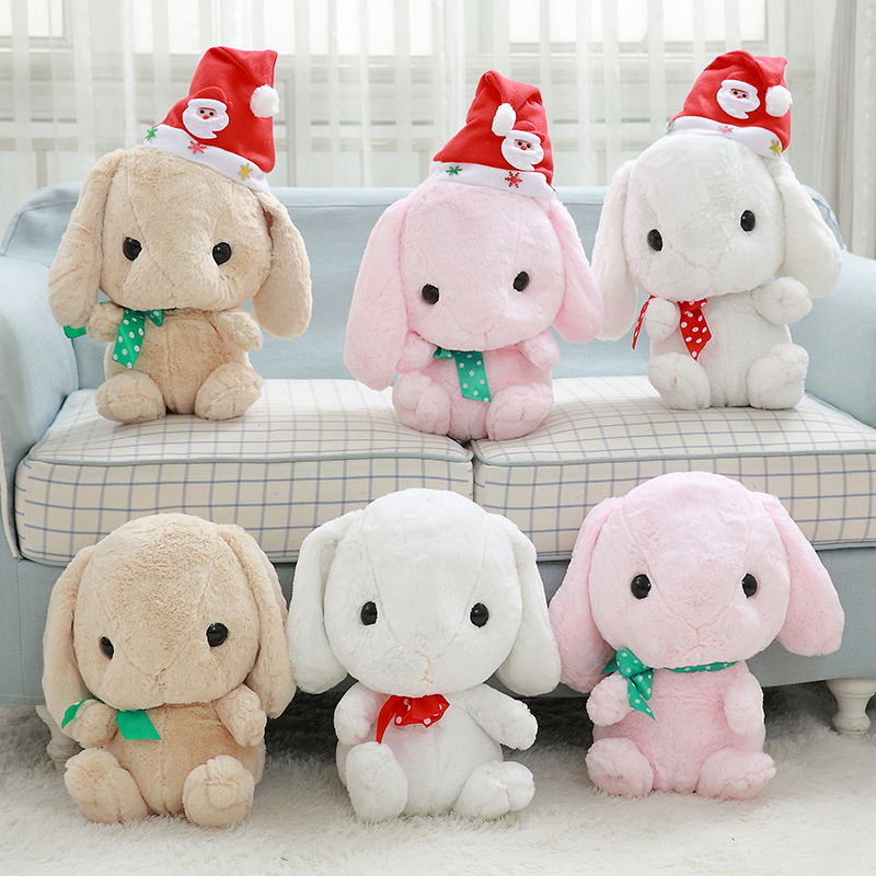 Cute Bunny Plush Toy Lovely Stuffed Animal Doll Rabbit Kids Christmas Gift Soft Toy 40cm 2016 new super mario plush 17cm one piece anime soft yoshi plush cute lovely doll kids gift
