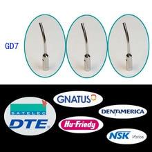 3 pcs/lot Dental Ultrasonic Scaler Tip GD7 for DTE/ Satelec/ NSK Varios/ Gnatus/ Bonart/ Rollence-S/ HU-FRIEDY/ DENTAMERICA