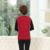 Mujer Chaleco Púrpura Rojo Color de Bloqueo Sin Mangas Básica de Lana Chaquetas de Las Mujeres de Mediana Edad Fleeve de Espina de pescado de la Cremallera Del Chaleco de Gilet