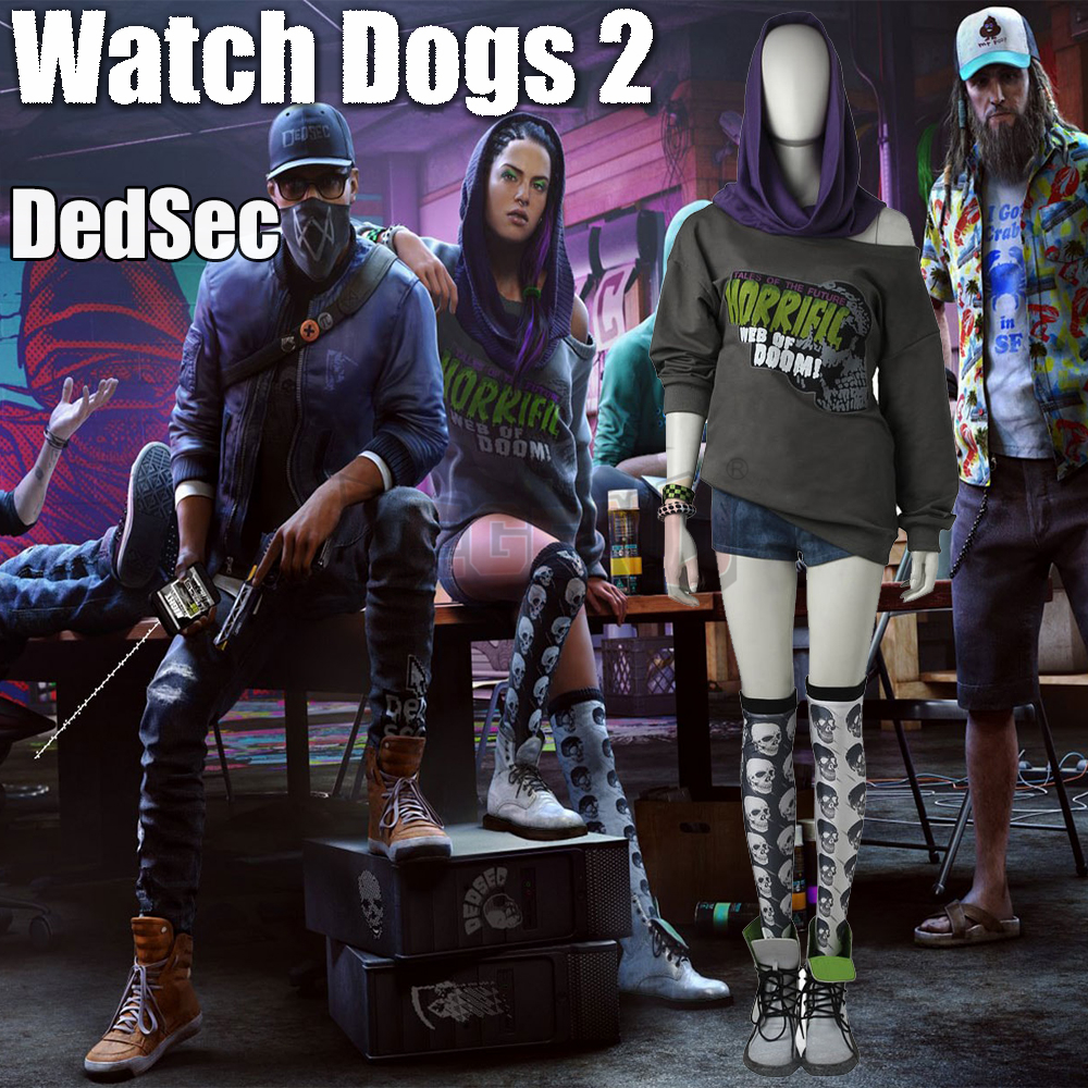Cosplay legend Watch_Dogs 2 DedSec Sitara Dhawan Cosplay adult costume Custom Made full set
