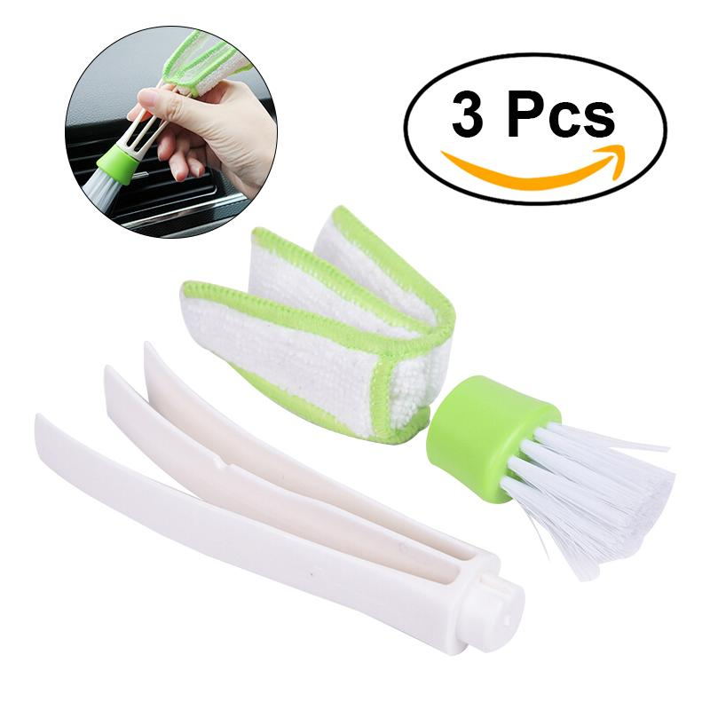 Duster Double Ended MicroFiber Vent Duster Brush for Car Air Outlets Quick Cleaner with Portable Precision Dusting Tool