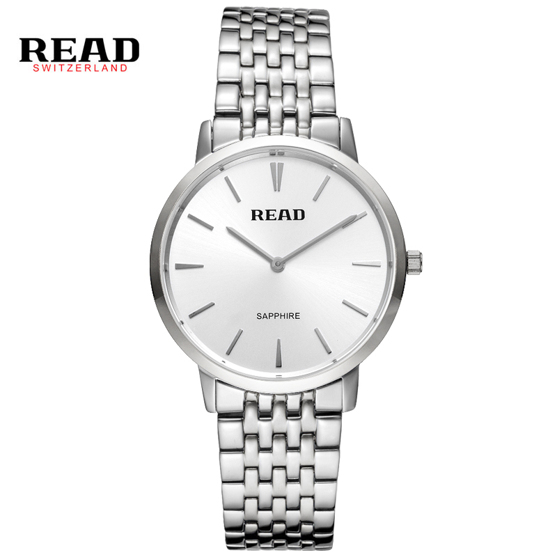 READ Fashion Luxury Brand Read Watches Men Stainless Steel Mesh Strap Quartz-Watch Dial Clock Man Relogio Masculino PR51 new fashion brand round dial black couple watch men luxury stainless steel casual quartz watches relogio masculino clock hot