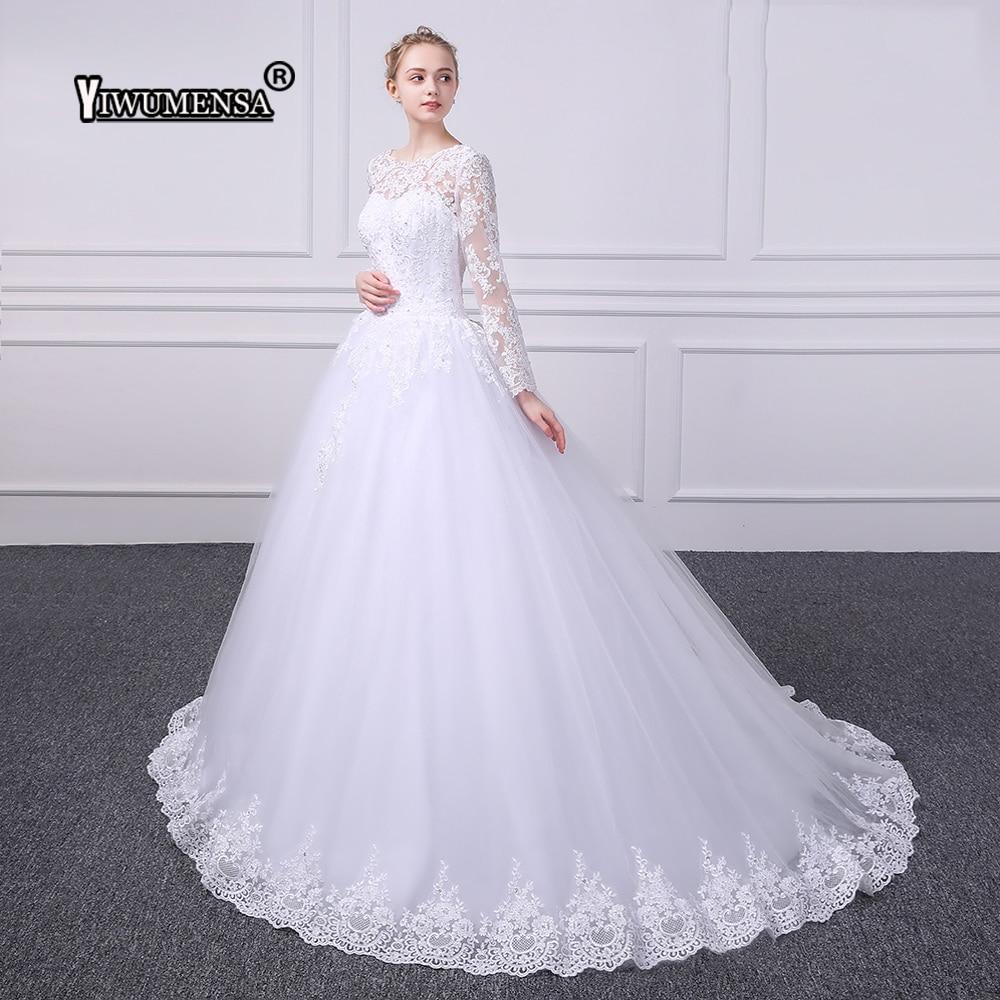 Kvinnor Långärmade Ansökningar Bröllopsklänningar 2018 Stövlar - Bröllopsklänningar