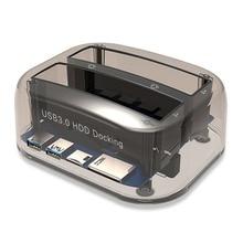 USB 3,0 на SATA двойной отсек внешний жесткий диск Док-станция для 2,5/3,5 дюймовый HDD SSD жесткий диск Дубликатор Plug& Play