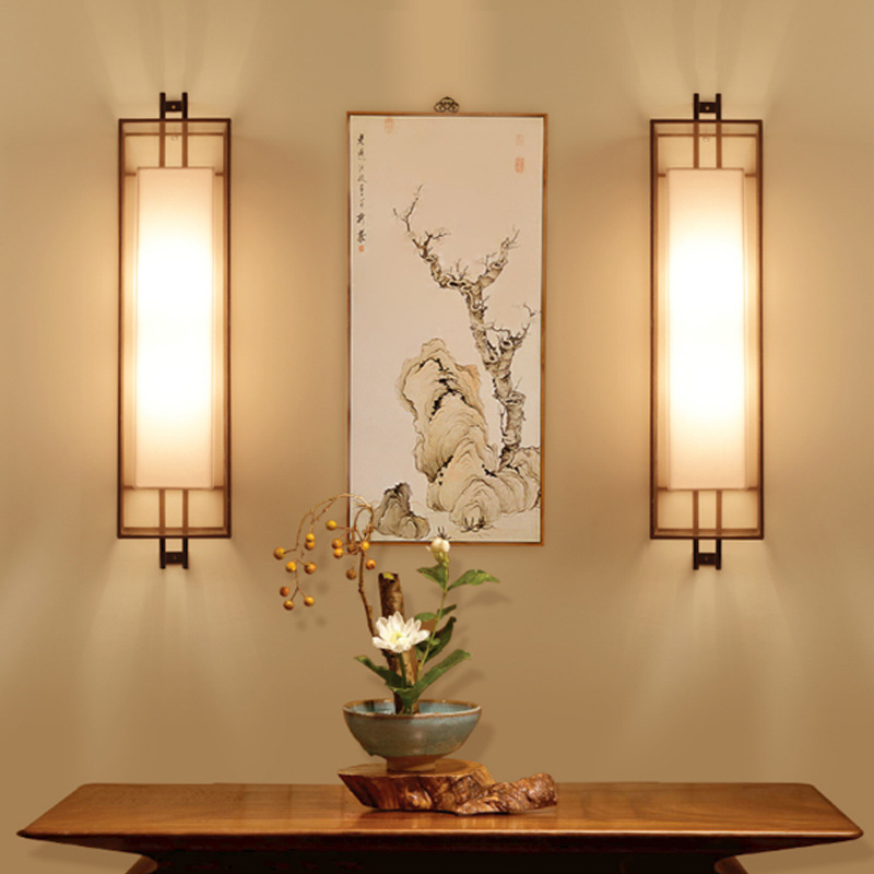 Chinese Style Led Long Wall Lamp