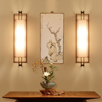 Hot home Indoor Decoration Chinese Style LED long Wall Lamp Living Room Bedroom Bedside Corridor Creative Chinese Wall Lamp