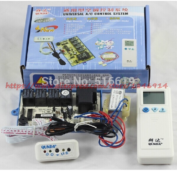 QD-U03A+ Hanging air conditioner general computer board / double probe / heating / air conditioning control board