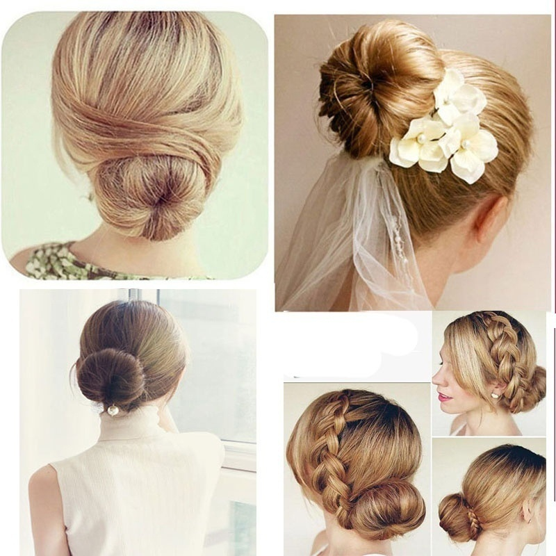 Us 1 09 45 Off 1pc Head Band Ball Fake Hair Bun French Twist Bun Maker Extension 1pc Diy Hair Styling Donuts Wig Donuts Bud In Women S Hair