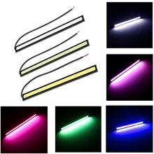 Автомобильный Стайлинг 1 шт. ультра яркий светодиодный дневные ходовые огни 17 см водонепроницаемый авто DRL COB водительские Противотуманные фары для bmw kia