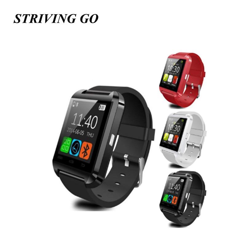 Galleria fotografica <font><b>Smartwatches</b></font> Bluetooth Smart Watch in U8 Orologio da Polso Messaggio di Notifica per Android Orologi Iphone Remote Camera Pk DZ09 Q18