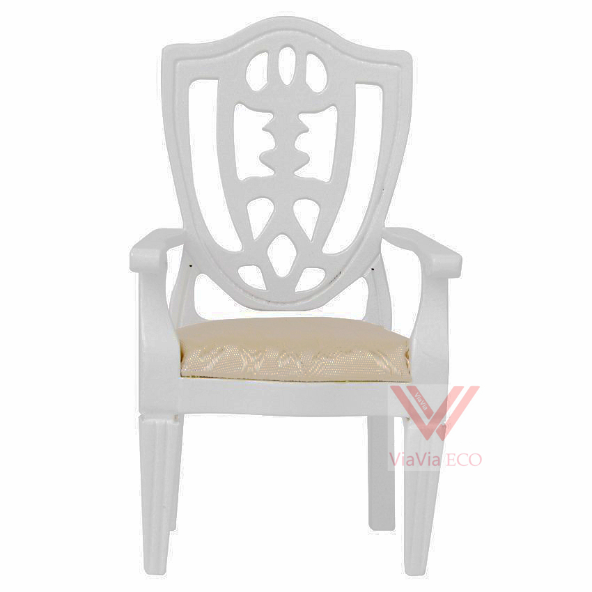 oMoToys VIAVIA ECO Dollhouse Miniature Armchair 1:12 Scale Wooden Chair Furniture for Doll House Decoration