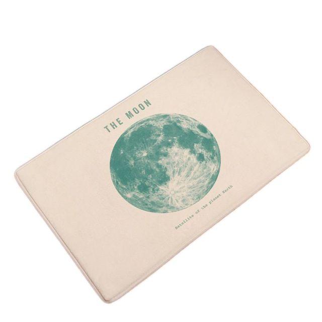 Flanell Planeten Gedruckt Saugfähigen Weichen Bad Teppich Wc Teppiche Küche  Bodenmatte Dekoration Tür Matten