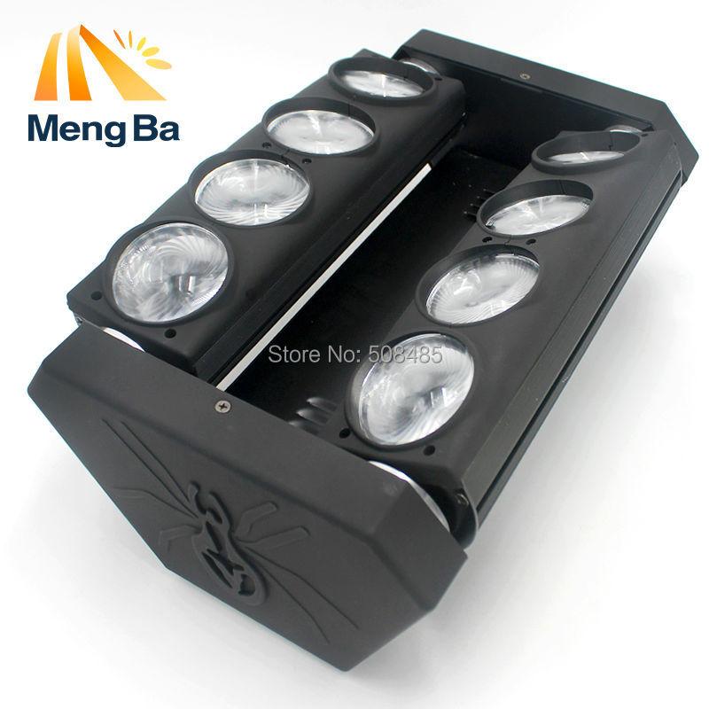 Tête mobile Led Spider Light 8x12W 4in1 RGBW Tête mobile LED Stage de lumière Expédition rapide