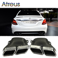 1 Conjunto Carro Novo-Estilo Para Mercedes BENZ C63 2012-2015 Tubo De Escape Silenciador Ponta W205 W205 C63 acessórios