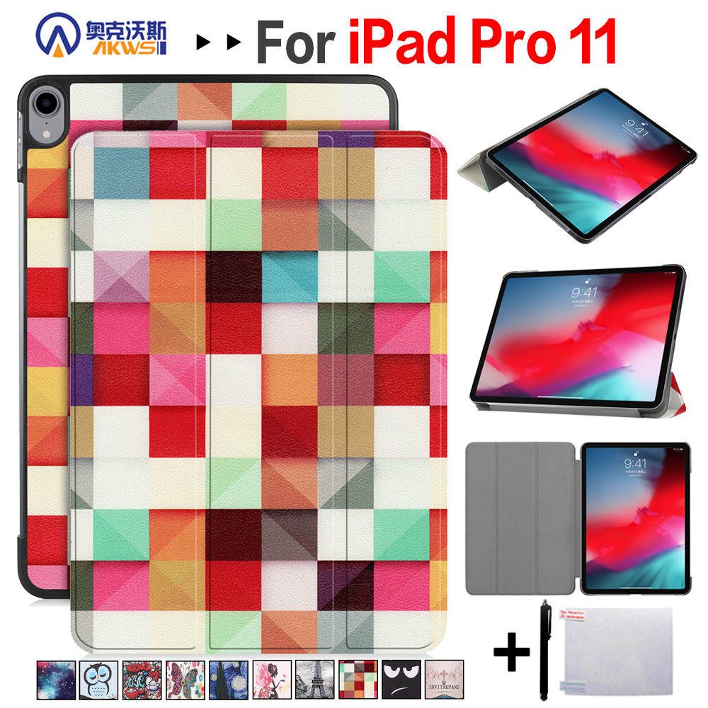 Walkers Accessory Case for IPad Pro 11 Inch 2018 Tablet Stand Magnetic Auto Sleep With PC Back + Gift