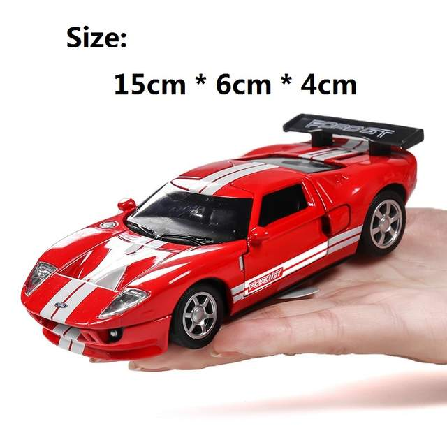 Placeholder Caipo  Ford Gt Kids Toys Alloy Car Model Pull Back Sound And Light