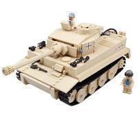 995Pcs German King Tiger Tank Building Blocks Sets LegoINGs Military WW2 Army Soldiers DIY Bricks Toys for Children KAZI