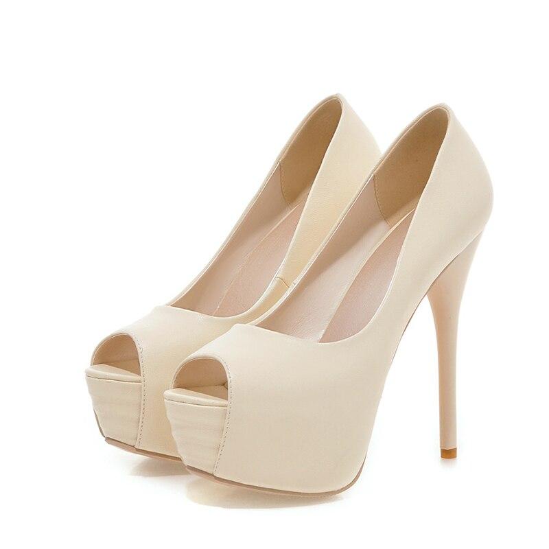 jaune Chaussures Plate Plus Peep Taille Sexy forme Beige 32 Femmes Haute Nouvelle Super Karinluna Discount Couleurs 43 Femme De Parti rose vert Talons Orteil Pompes Bonbons bleu xaE74w