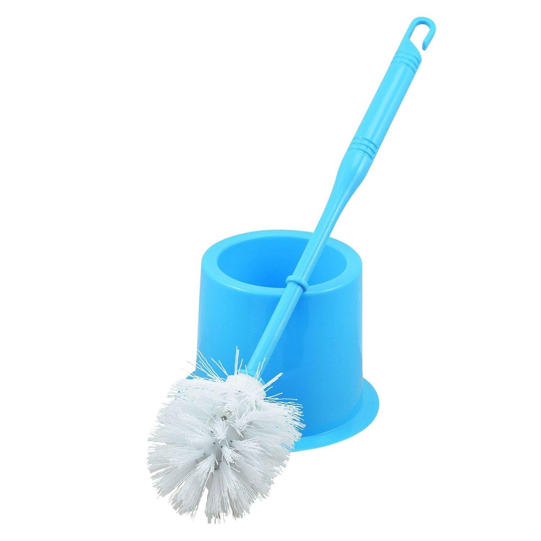 BATHROOM TOILET CLEANING BRUSH AND HOLDER FREE STANDING SET Colors Random(white+Sky blue+rose red+light green)