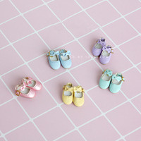 Free Shipping Doll Accessories Handmade Bow Tie Single Shoes For Middie Blythe OB11 Gifts Toys