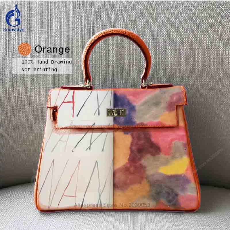 Lady Style Women Genuine Leather Bag Contrast Color Togo Leather Handbags Famous Famous Brand Designer Top Handle Bags Totes Y цены онлайн