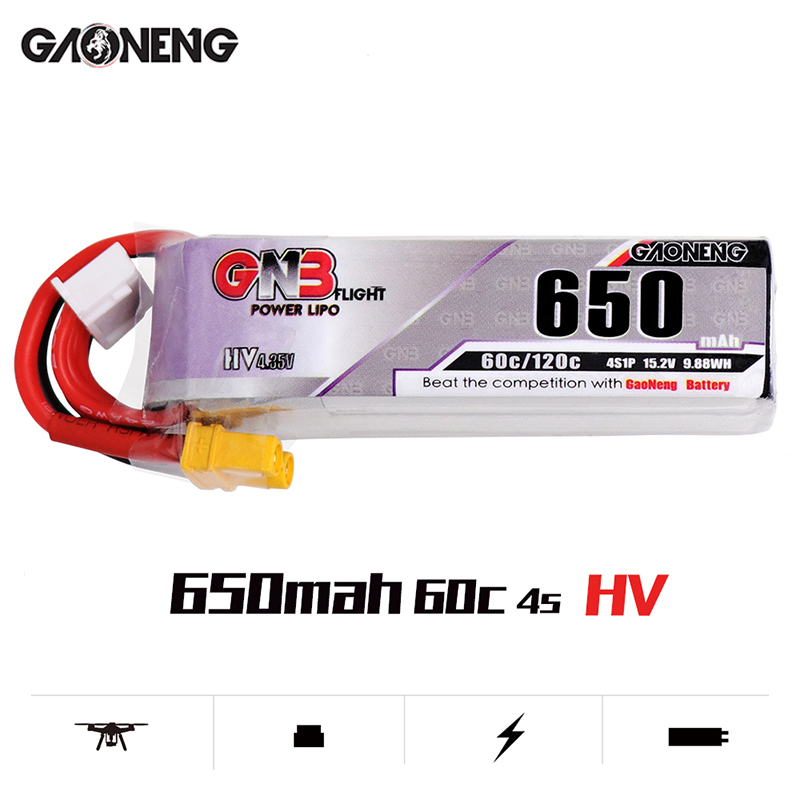 Image 5 - 5PCS Lipo Battery Gaoneng GNB HV 650mAh 60C 1s 2s 3s 4s HV With PH2.0 XT30 Plug For Emax Tinyhawk Kingkong LDARC TINY-in Parts & Accessories from Toys & Hobbies