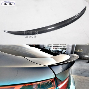 X6 E71 Carbon Fiber Car Rear Trunk Lip Spoiler Wing for BMW 2008-2013 image