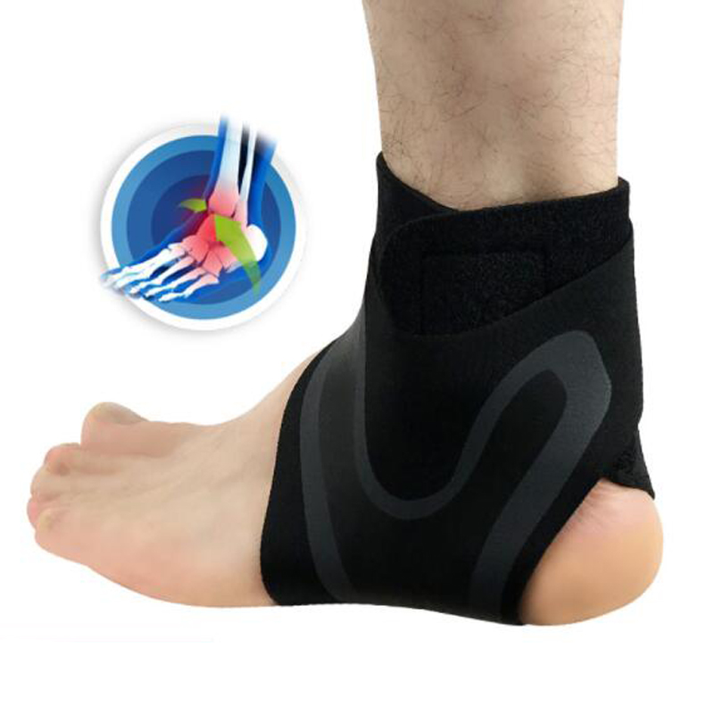 1 PCS Ankle Support Brace,Elasticity Free Adjustment Protection Foot Bandage,Sprain Prevention Sport Fitness Guard Band 2