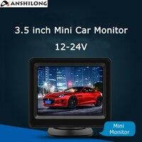 ANSHILONG 12 24V 3 5 Inch TFT LCD Mini Car Vehicle Rear View In Dash Monitor