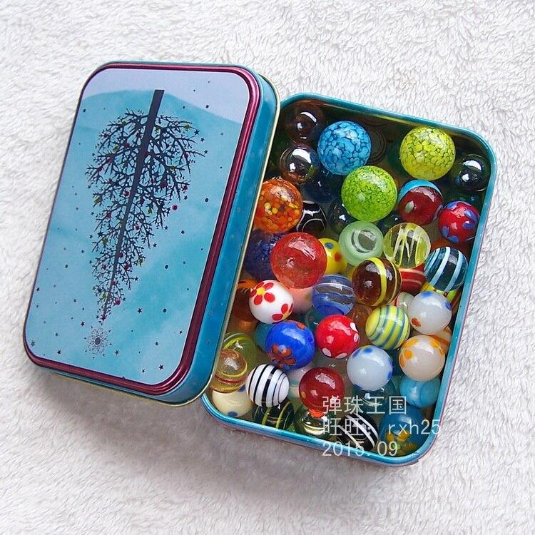 จัดส่งฟรี46ชิ้น/ล็อตแฟนซีลูกหิน16 18มิลลิเมตร20มิลลิเมตรลูกแจกันแก้วตกแต่งด้วยแพคเกจกล่องดีบุก-ใน รูปแกะสลักและรูปจำลอง จาก บ้านและสวน บน   1