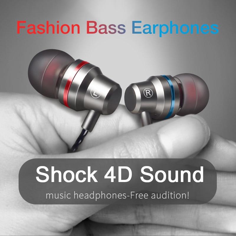 Type C Earphone Dynamic Drive HiFi USB-C Earbuds In-ear Bass Metal Sport Gaming Headset with Mic for Xiaomi Mi9T Huawei P30 Lite