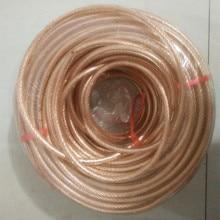 Молния стержень мягкий медный провод 1 м/лот Красный медный изолированный Электрический кабель 10-50 квадратный медный многожильный провод пластиковая упаковка