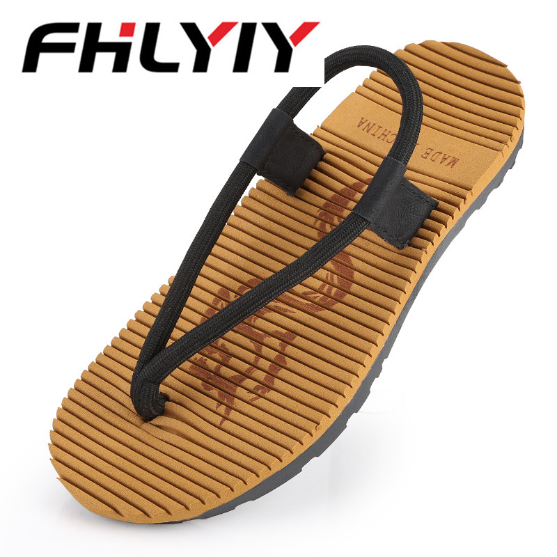 New Summer Men Flip Flop Hot Sandals Flat Non-Slip Slides Home Slipper Man Casual Straw Beach Shoes Zapatos Hombre