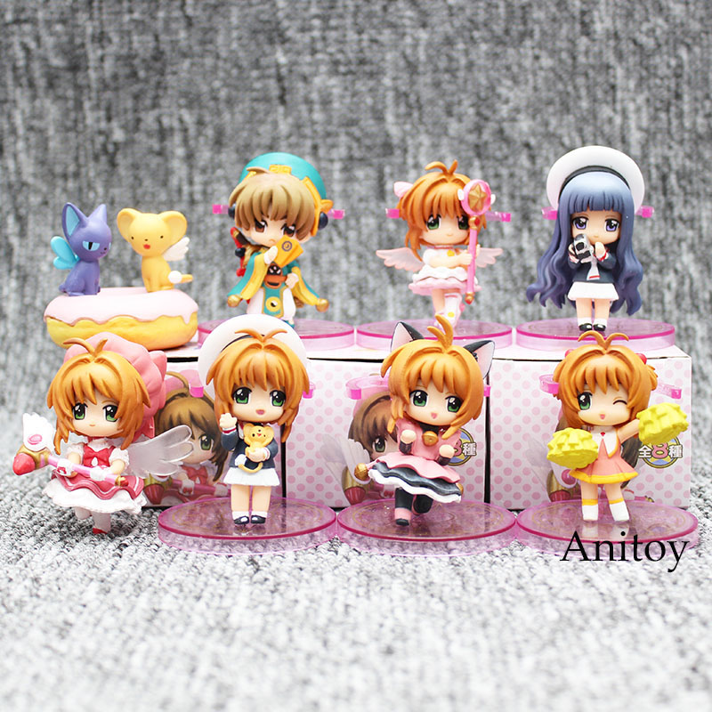 Anime Card Captor Sakura Action Figure Kinomotosakura Risha Oran PVC Action Figure Collectible Model Toy 8pcs/set 6cm KT3600 shfiguarts batman injustice ver pvc action figure collectible model toy 16cm kt1840
