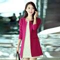 2017 primavera y otoño nueva versión Coreana de la gran tamaño de los modelos de otoño de las nuevas mujeres de largo y elegante de las mujeres Delgadas escudo