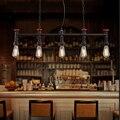 2016 New American indústrias criativas vento cinco tubos de ferro lustre loft retro retro bar cafe lustre