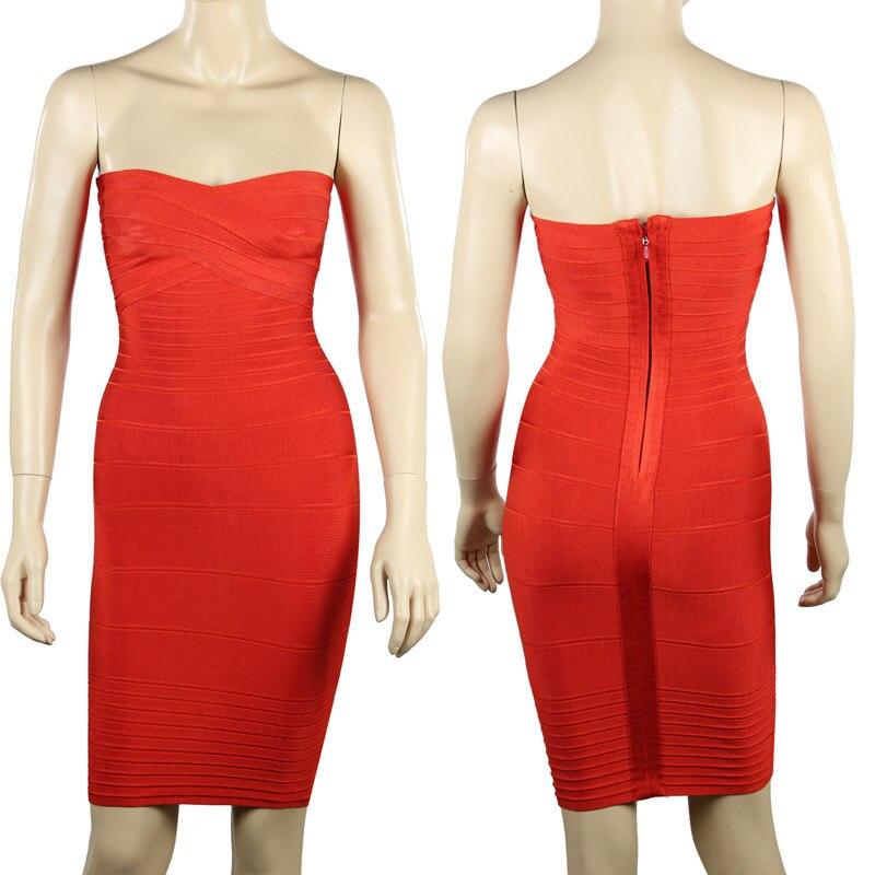 Ким Кардашьян, без бретелек, с открытыми плечами,, сексуальное женское платье, вискоза, бодикон, опт, дешевые мини обнаженные платья - Цвет: Red