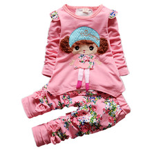 CHCDMP Spring Autumn baby girls sport outfits child clothing set suit set children T-shirt +pants clothes sets kids 2 pcs