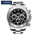 LOREO Germany watches men automatic self-wind diver 200M oyster perpetual cosmograph daytona relogio masculino 116508