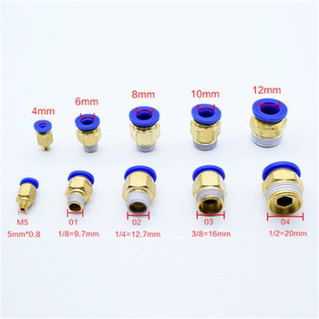 PC Air Pneumatic 10 12mm 6 8mm 4mm Hose Tube 1/4BSP 1/2 1/8 3/8 Male Thread Air Pipe Connector Quick Coupling Brass Fitting 1pcs air pipe fitting pcf 6 8 10 12mm hose tube 1 8 3 8 1 2 bsp 1 4 female thread brass pneumatic connector quick joint