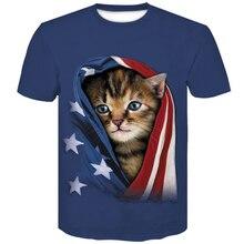 3D Cute Cat Print Animal t shirt Newest Cool T-shirt Men/Women 2019 Short Sleeve Summer Tops Tees Casual brand T Male 4XL