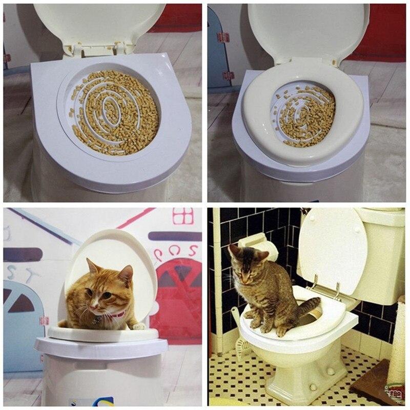 2 stücke Cat Toilet Training Kit Sitz Wurf Fach Professional Pet Katzenstreu Reinigung Trays Wurf Toilette Box/Dicke box Verpackung